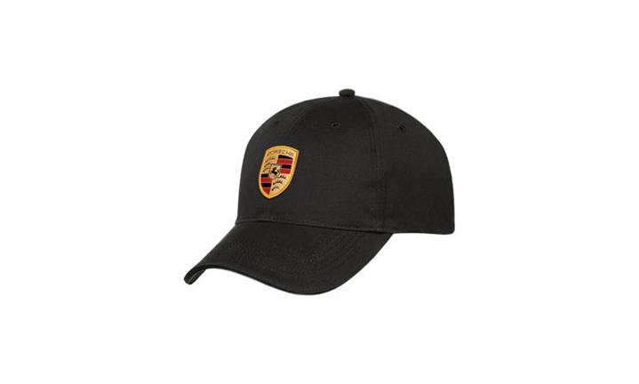 Porsche Crest Logo White Baseball Cap